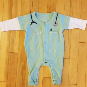 Adorable doctor onesie outfit